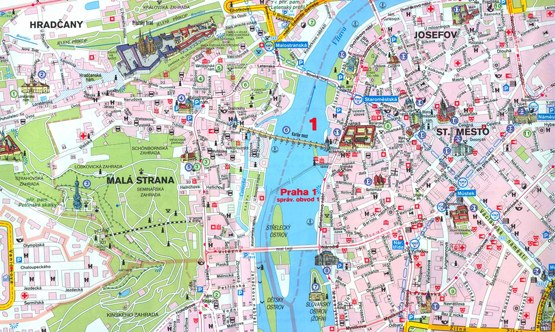 Prague map to download as PDF